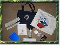 The goodie bag from Surf'N'Safari '04 (Photo by Mark Booth)